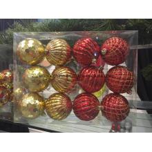 Ornements de décoration de Noël en différentes formes et tailles avec emballage (nouveau matériau)