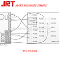 60m ttl rs232 serial port output laser distance sensor