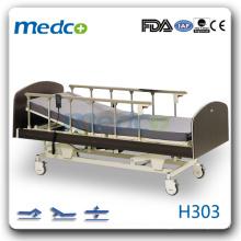 H303 Heiß! Drei Funktionen elektrische Patientenbett mit Rädern