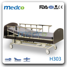 H303 Hot! Three functions electric hospital bed with wheels