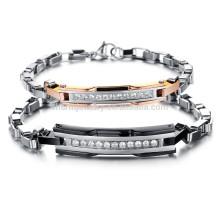 2015 neue südkoreanischen Stil Mode-Trend in Europa und Amerika ein paar Titan Stahl Armband Diamant-Gitter GS713