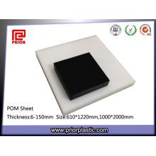 Plaque thermoplastique blanche et noire en Delrin