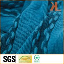 Echarpe tricotée à la rayure à la rayure à la mode 100% acrylique à la fourrure