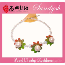 Fancy Kids Jewellery Handmade Big Pearl Children Necklaces