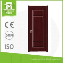 China suppliers pvc single wood door for decoration homes