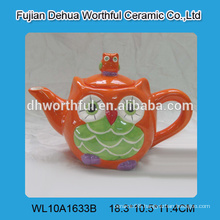 Decorative owl ceramic tea kettle,ceramic teapot,ceramic water kettle