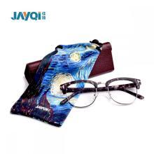 Custom Pink Drawstring Microfiber Glasses Bag