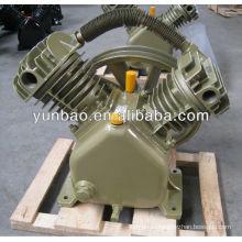 поршневой воздушный компрессор, головка цилиндра, V-образный, воздушный компрессор, воздушный насос с ременным приводом
