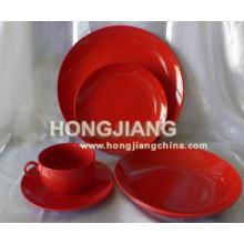 20PCS Porzellan Farbe glasiert Abendessen Set