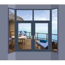 Woodwin Customized Color Double Tempered Glass Aluminum Casement Window