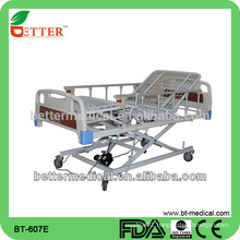 Electric three function hospital crossing bed