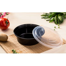 Envase de comida plástico de la microonda