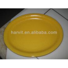 6 '', 7 '', 8 '', 9 '', 10 '', 10.5''stoneware couleur glacé plaque ronde