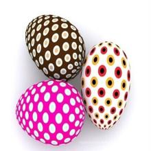 pequeños huevos de Pascua de madera, decoraciones de Pascua, huevo de Pascua