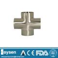 ISO/IDF Sanitary welded cross pipe fittings