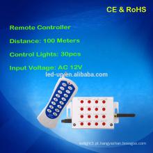 Um jogo para o controlador recebido e remoto, controla o controle remoto das luzes 30pcs para a luz, a distância fixa 100m distante