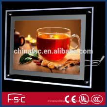 Publicidad tableros luz led caja ligera de acrílico cristal