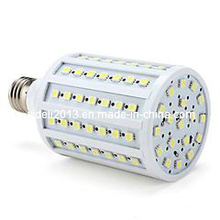 E27 lâmpada LED / 18W milho luz com 86 5050 SMD chips em branco quente = halogênio 100W