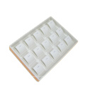 Nice Beige Leather PU Jewelry Display Tray for Necklace (PT-K10B)