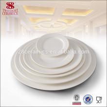 Hecho en platos de cena al por mayor blancos del plato del cargador de la vajilla de China