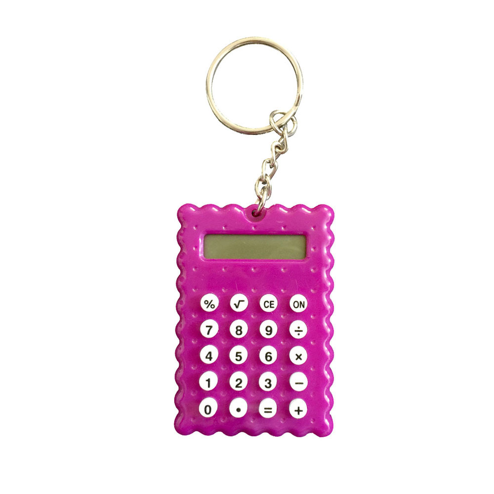 8 Digits Cute Mini Cookies Model Calculator with Keychain