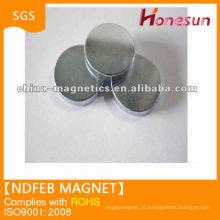 níquel de ímã de ndfeb disco sinterizado revestimento 50mm