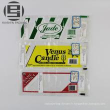 Emballage plat imprimé de poly pour la vente au détail