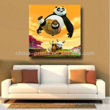 Arte vendedor caliente de la pared de la lona de la panda de la HISTORIETA