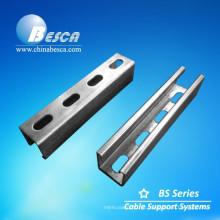 Forma perfurada do canal C do suporte de aço & forma de U (UL, CE, cUL, NEMA, ISO9001)