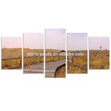 Cenário do outono Arte da parede / Paisagem da paisagem da passagem do oceano a Pinturas da foto em canvas