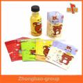 Beverage/juice full bottle shrink wrap sleeves for baby drinks labeling