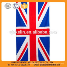 high quality cotton 30*60'' promotional England National Flag beach towel