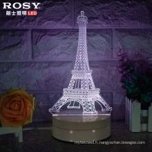 3D Noël Visual blanc léger LED lampe de chevet