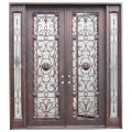 Porta de ferro forjado galvanizado a quente padrão americano