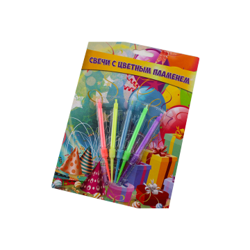 Kue Ulang Tahun Spiral Magic Color Flame Candles