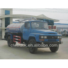 Dongfeng 140 camión de vacío de aguas residuales, 6M3 vacío fecal camión de succión