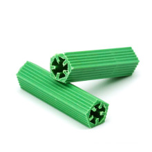 Stock PP Material Plastic Expansion Pipe Green Wall Plug M6*26 Drywall Self Tapping Screw Expansion Tube Nylon Anchor
