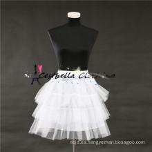 La crinolina de la enagua del vestido de boda para los vestidos de las muchachas hincha 4 capas de enagua nupcial