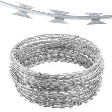 Manufacturer Anping China Best Price High Quality concertina razor wire with clips Cross Razor Barbed Wire with Clips