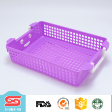 Houseware multipurpose plastic baskets storage with handle
