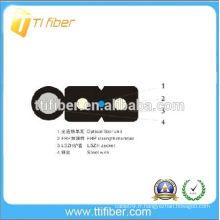Câble FTTH extérieur G657A de 1 cœur avec deux éléments de résistance et un fil d'acier au FRP