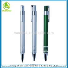 Bolígrafo de aluminio anodizado barato regalo promocional con impresión de logotipo