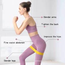 Wholesale Custom Logo Workout Hip Gym Fitness Yoga Non Slip Elastic Yoga Band