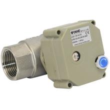 Válvula de motor de la válvula de bola del agua de la manera 2 NSF con la operación manual para el agua caliente (T25-S2-B)