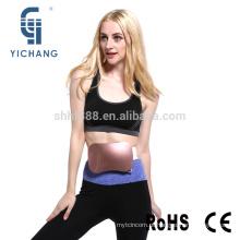 Moda sem fio recarregável elétrica cinto fino para mulheres cintura queima de gordura reduzindo vibro forma emagrecimento cinto