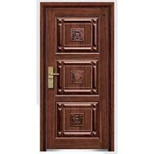 Venta caliente de puertas blindadas de madera y acero
