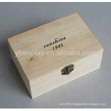 Cherry Wooden Jewelry Box Necklace Earring Storage Case