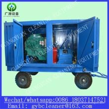 Motor diesel de alta pressão tubulação Industrial equipamento, máquina de limpeza de limpeza