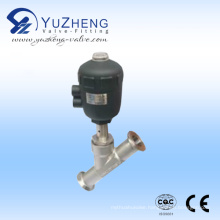 Stainless Steel Clamped Pneumatic Angle Seat Valve
