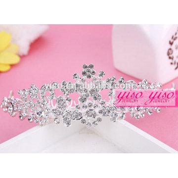Por atacado de moda de cristal moda alta tiara coroa